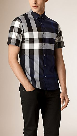 Chemise en coton à motif Giant exploded check