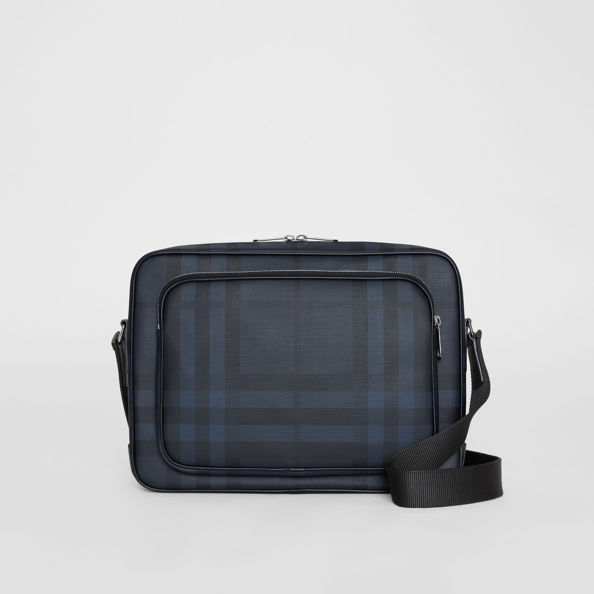 London Check Messenger Bag in Navy/black - Men | Burberry Hong Kong - gallery image 0