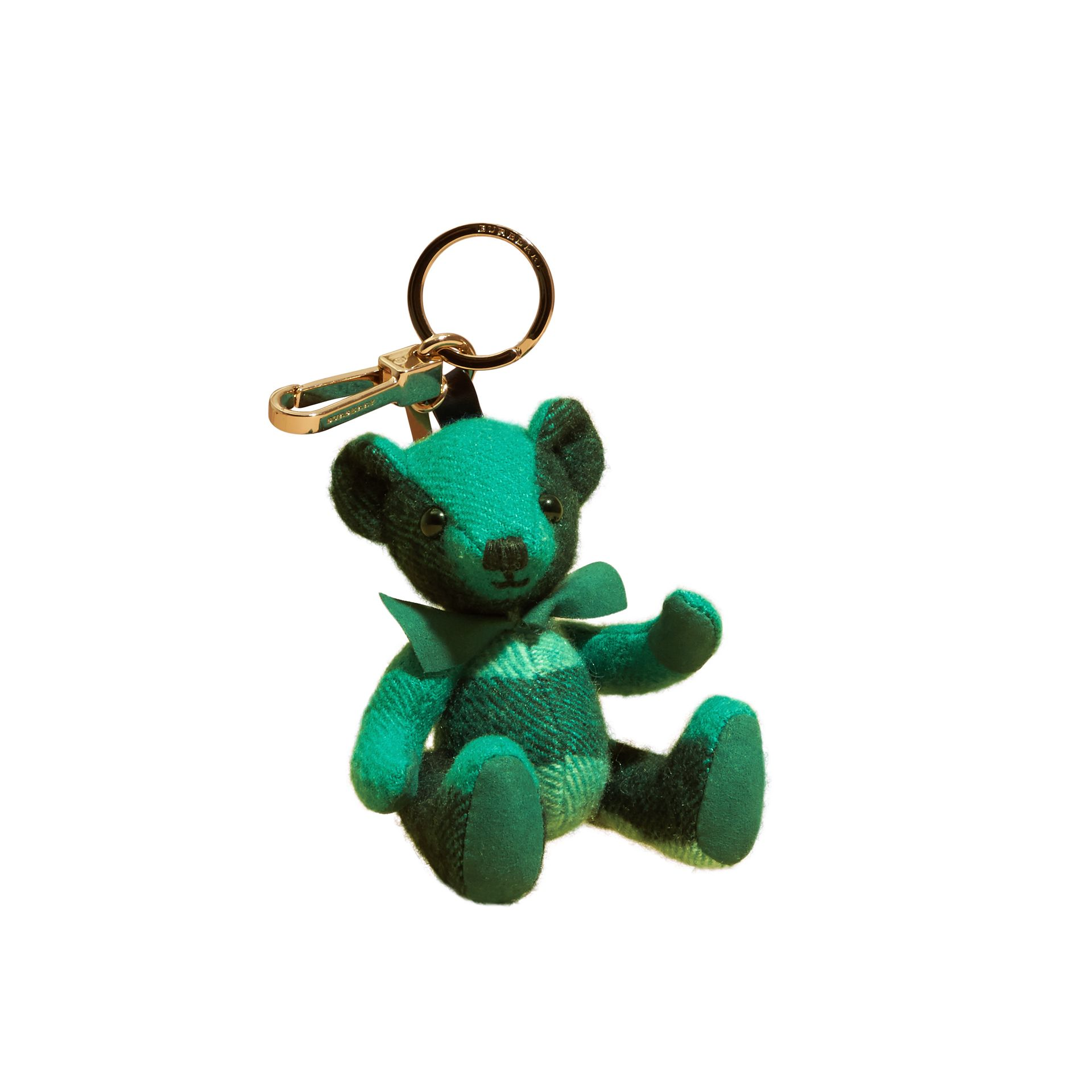 Emerald Thomas Bear Charm in Check Cashmere Emerald - gallery image 2