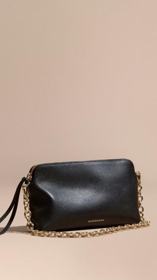 Grainy Leather Clutch Bag
