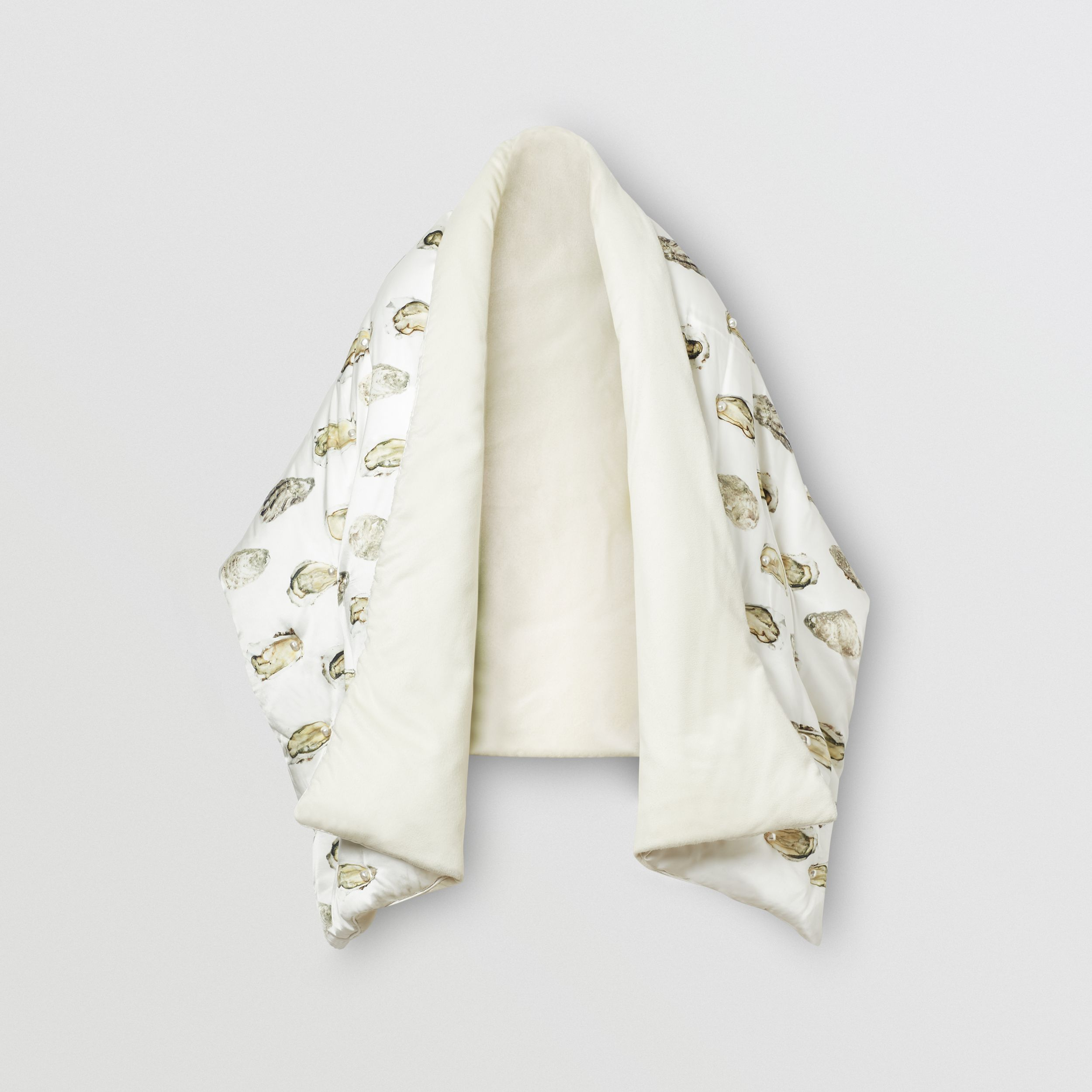 Oyster Print Puffer Scarf in Natural White | Burberry - 4