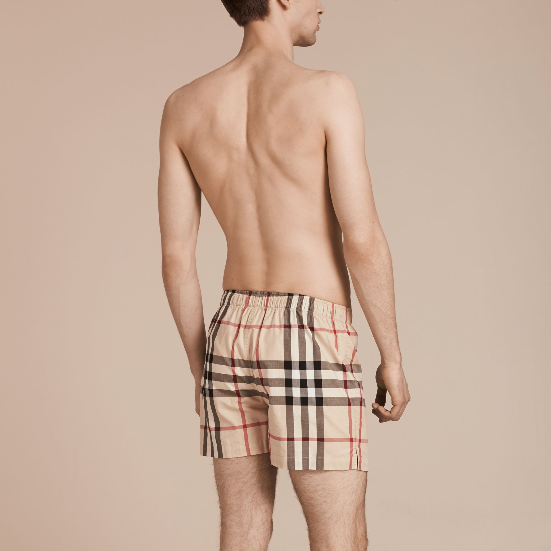 Check Twill Cotton Boxer Shorts in New Classic - Men | Burberry Canada - gallery image 3