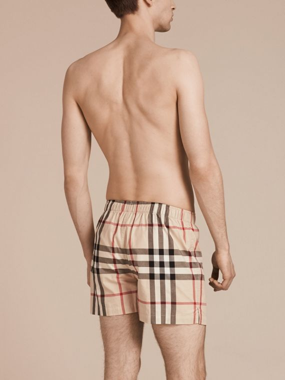 Check Twill Cotton Boxer Shorts in New Classic - Men | Burberry - cell image 2