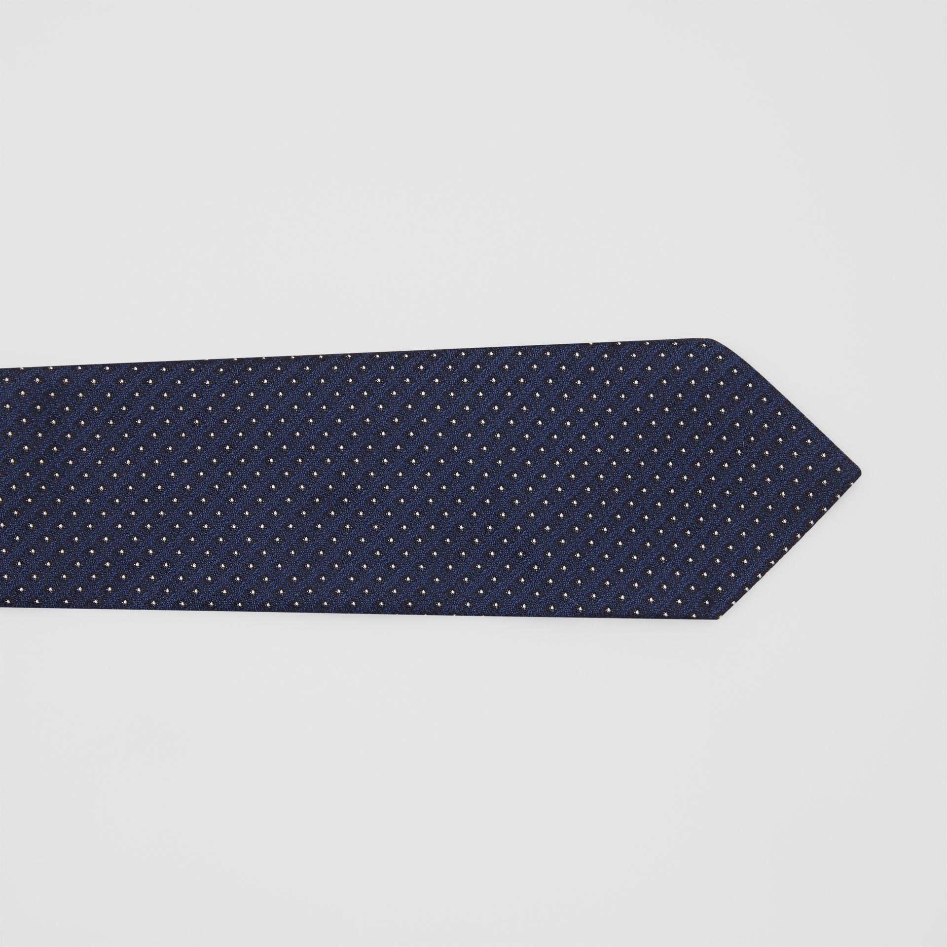 Classic Cut Micro Dot Silk Jacquard Tie in Navy - Men | Burberry Australia - gallery image 1