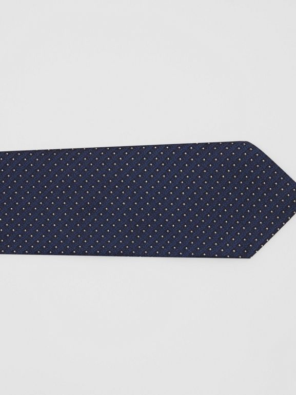 Classic Cut Micro Dot Silk Jacquard Tie in Navy - Men | Burberry - cell image 1