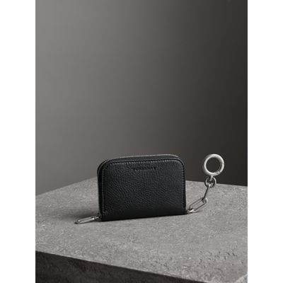 Link Detail Leather Ziparound Wallet - Black Burberry TeV2kUAw9