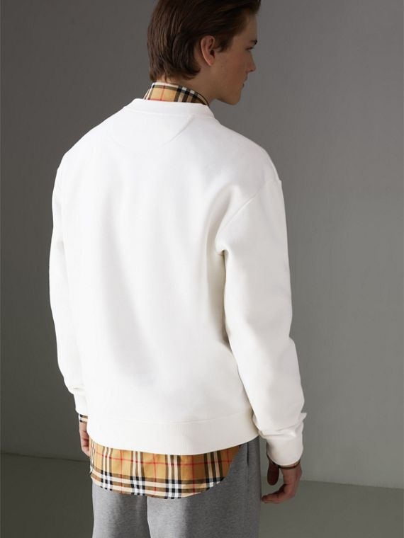 Reissued Jersey Sweatshirt in Off White - Men | Burberry - cell image 2