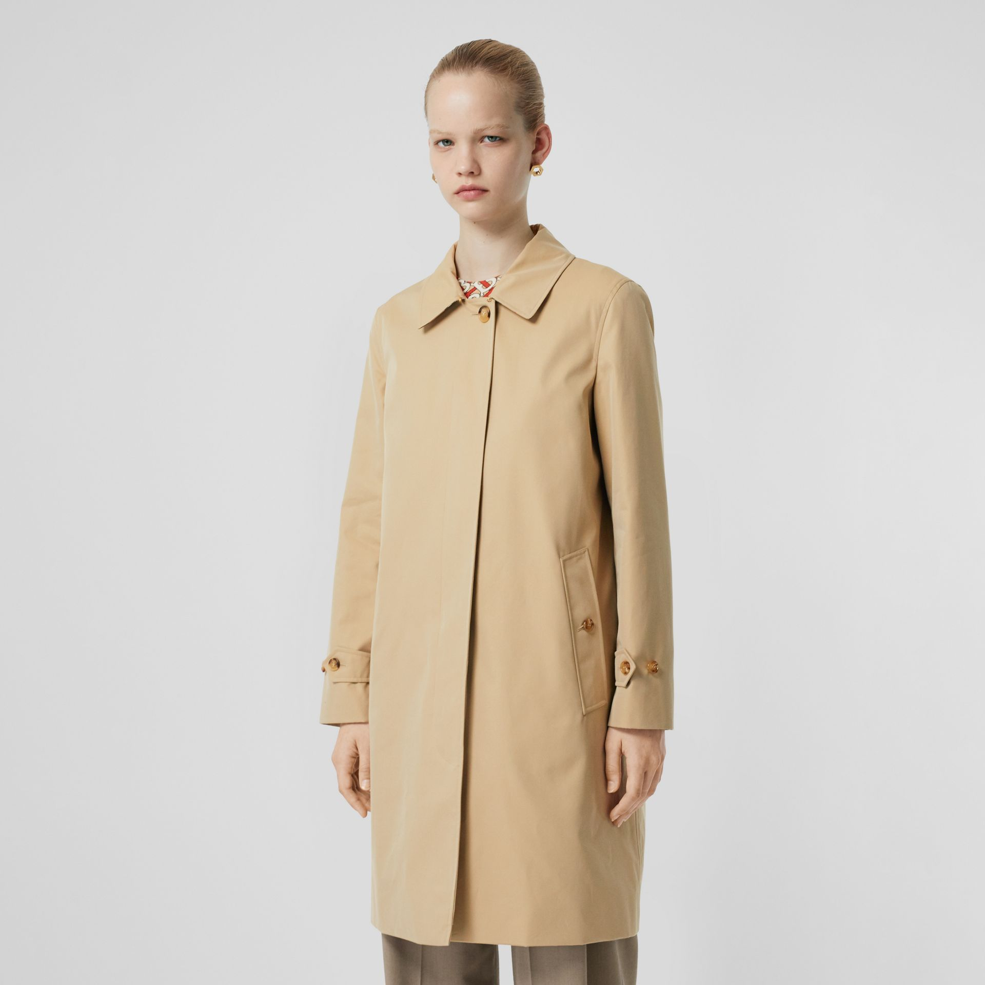 The Pimlico Heritage Car Coat in Honey - Women | Burberry United Kingdom - gallery image 7