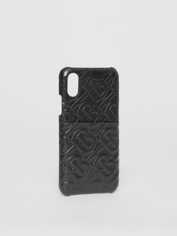 Custodia in pelle per iPhone X/XS con monogramma (Nero) - Uomo | Burberry - cell image 2