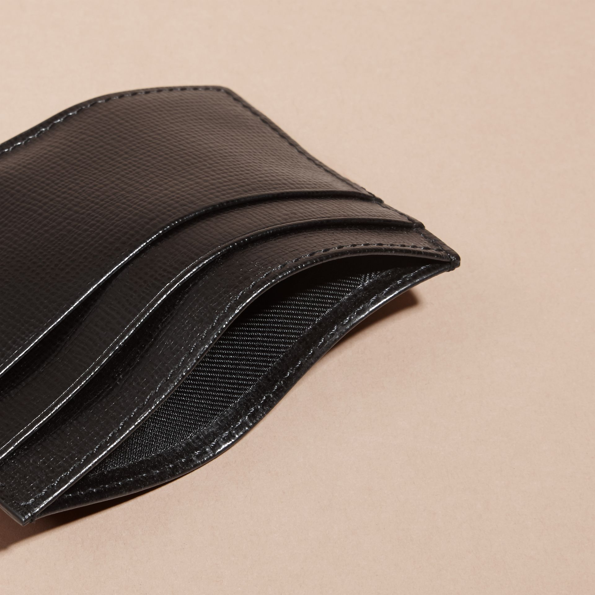 London Leather Card Case in Black | Burberry - gallery image 5