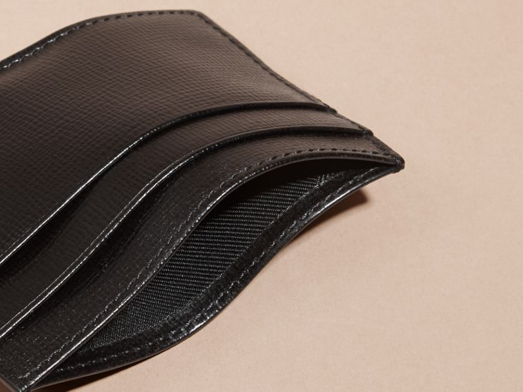 London Leather Card Case in Black - cell image 4