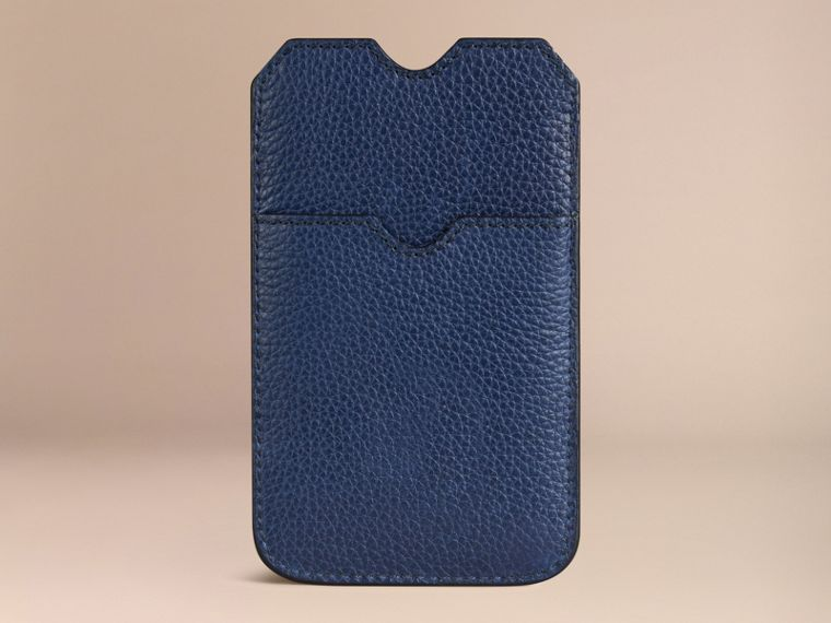 Grainy Leather iPhone 5/5S Case in Bright Navy | Burberry - cell image 1