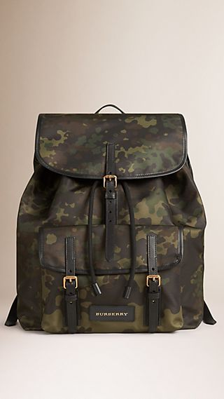 Camouflage Print Lightweight Backpack