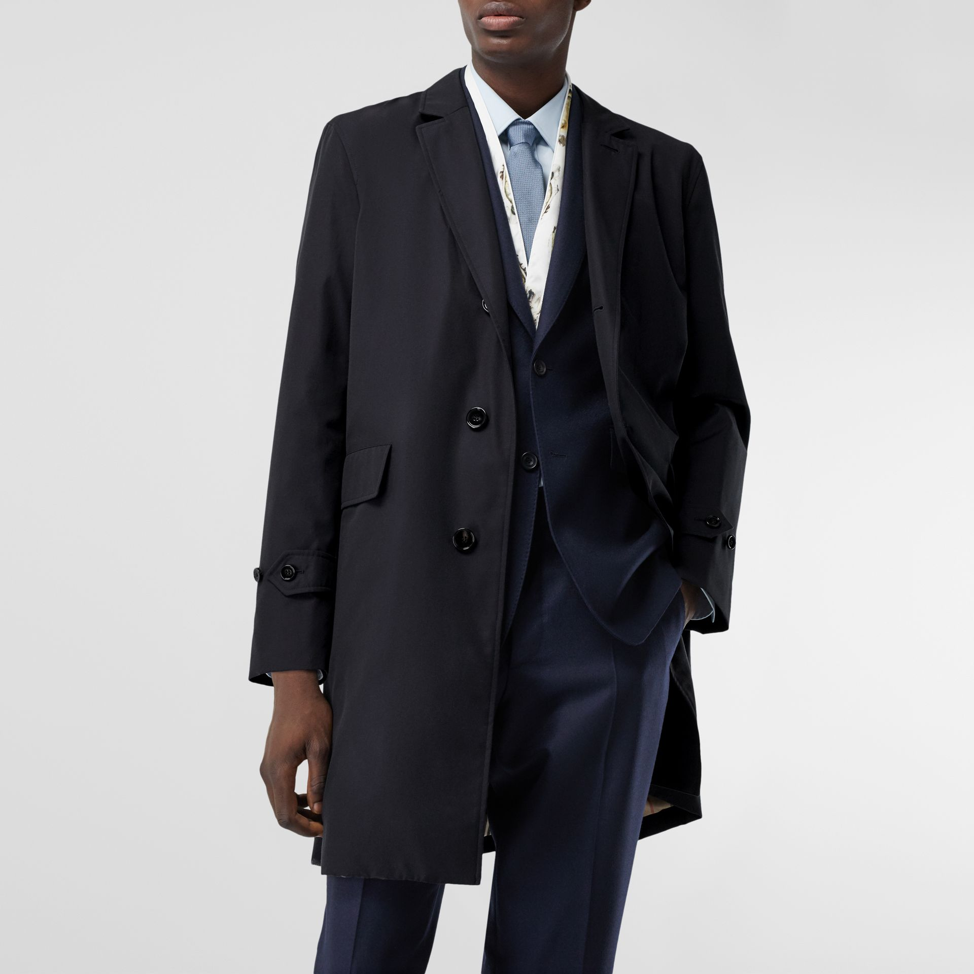 Cotton Gabardine Lab Coat in Midnight Navy - Men | Burberry - gallery image 8