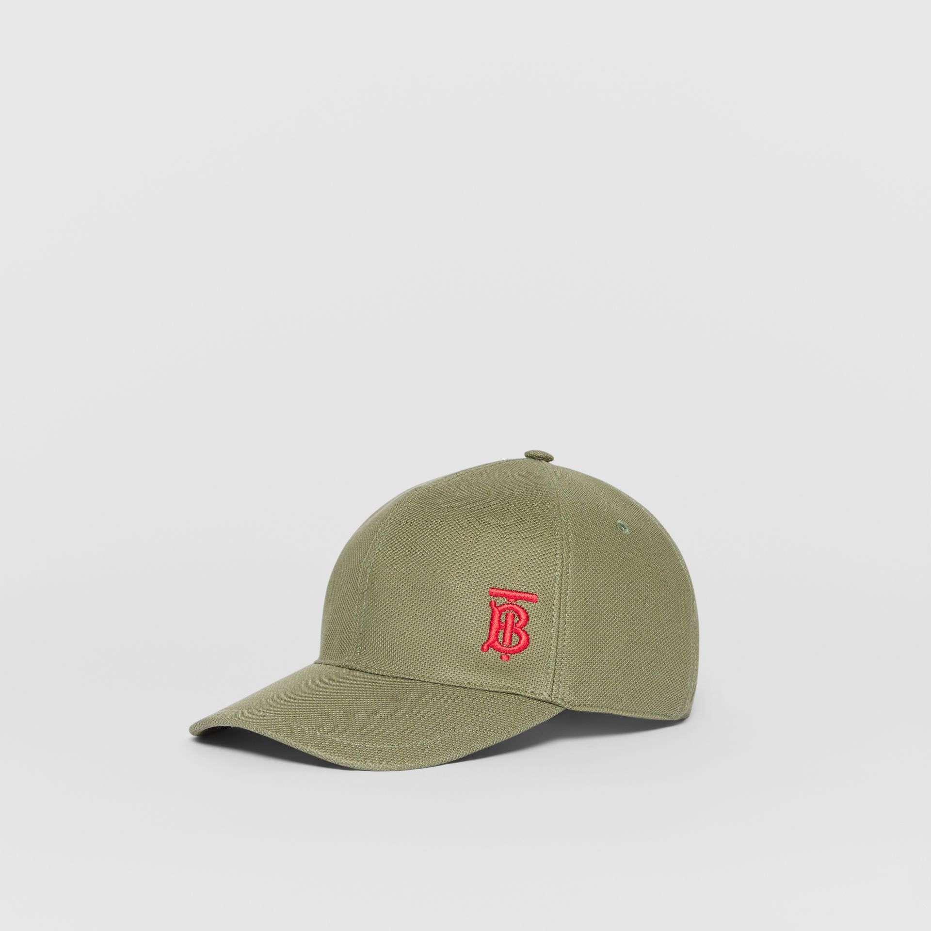 Monogram Motif Baseball Cap in Poplar Green | Burberry - gallery image 3