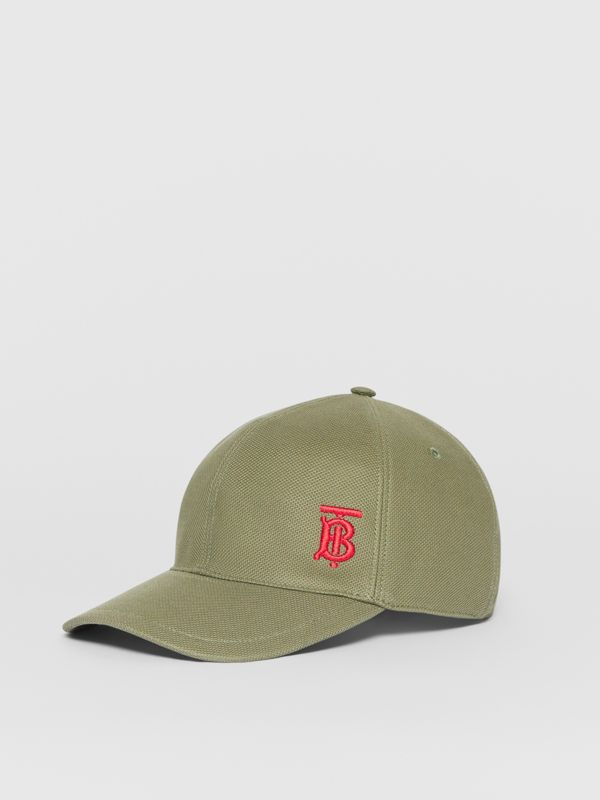 Monogram Motif Baseball Cap in Poplar Green | Burberry - cell image 3