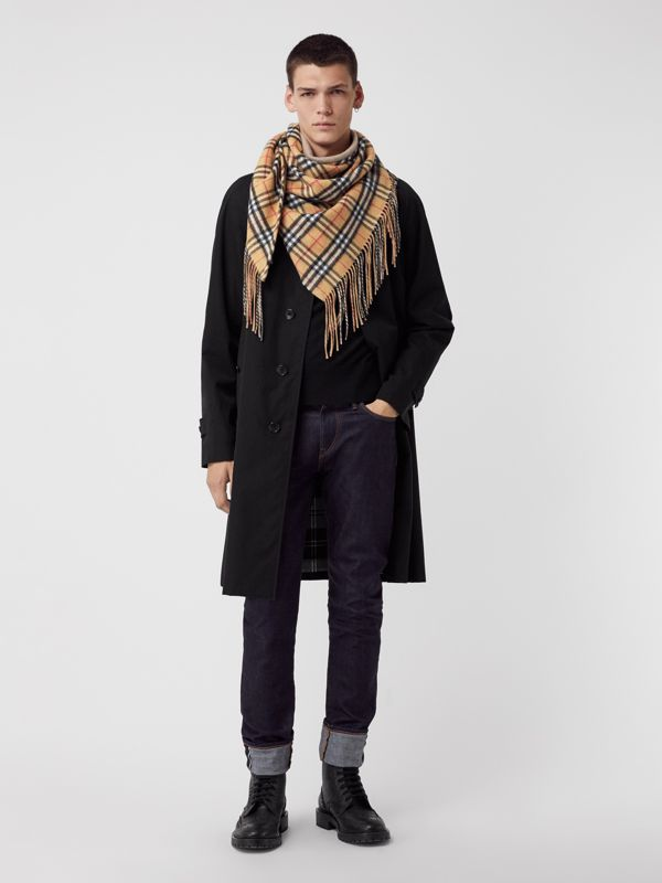 The Burberry Bandana in Vintage Check Cashmere in Sandstone | Burberry Australia - cell image 3