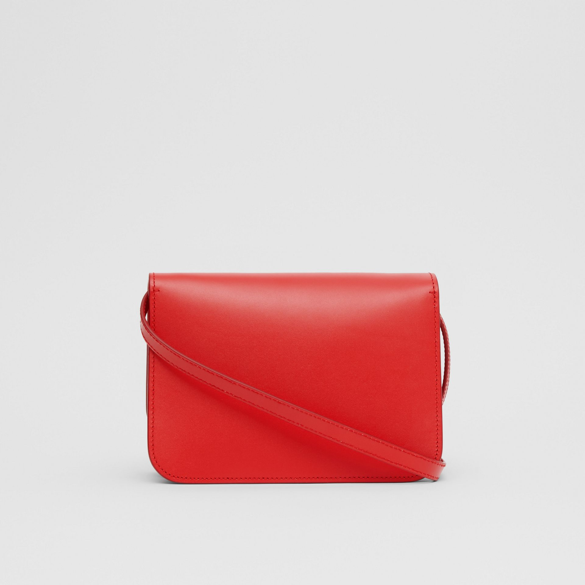 Small Leather TB Bag in Bright Red - Women | Burberry United Kingdom - gallery image 5