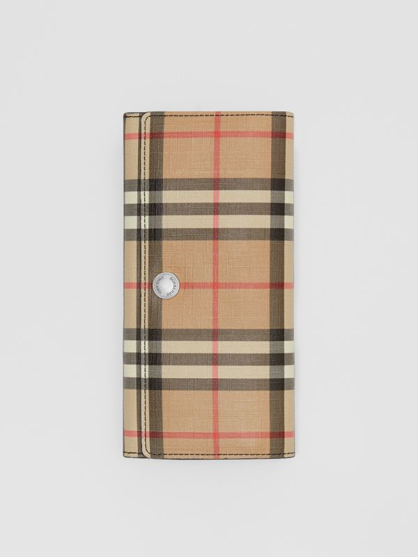 Vintage Check E-canvas Continental Wallet in Black - Women | Burberry United Kingdom - cell image 3