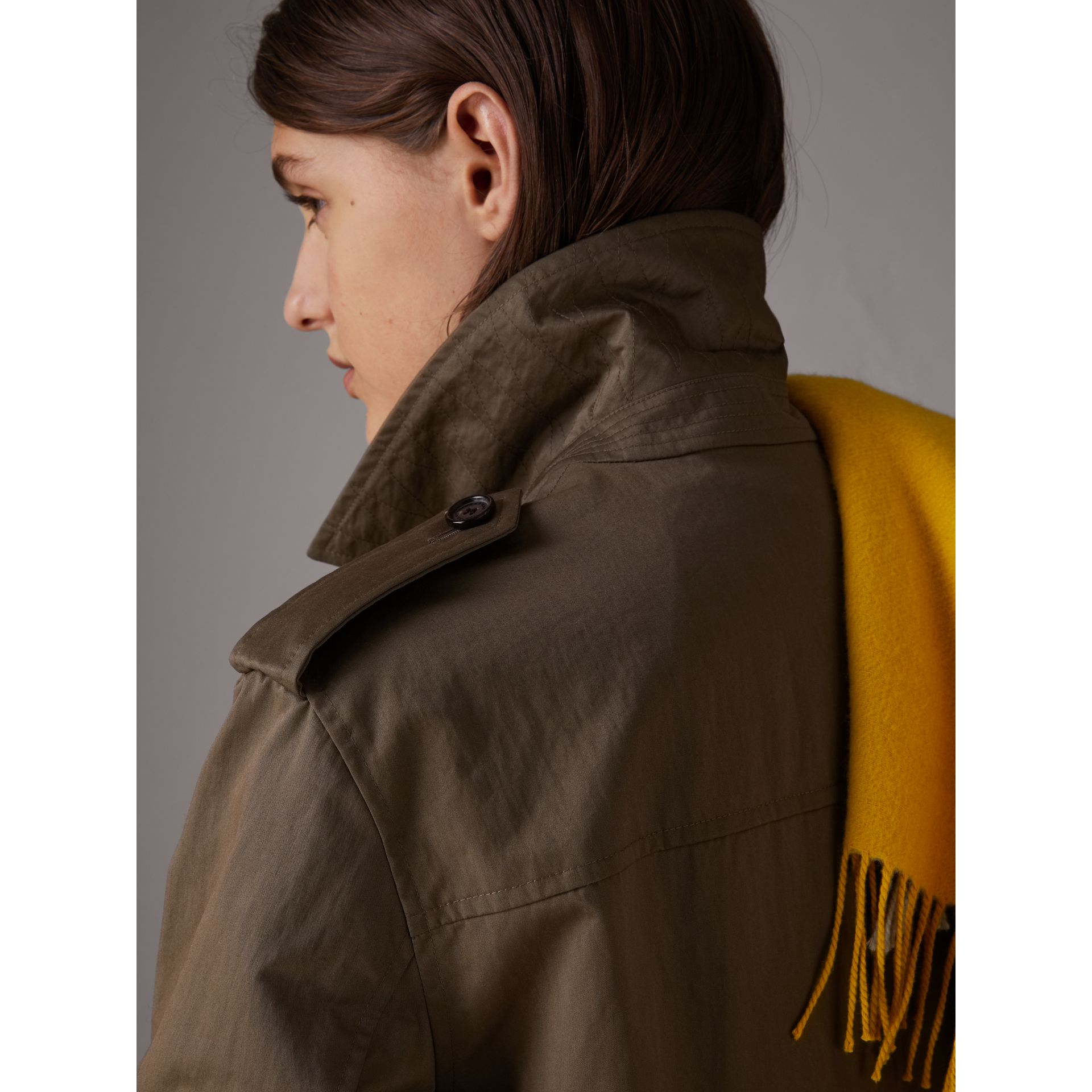 Showerproof Field Jacket in Dark Olive - Women | Burberry - gallery image 4