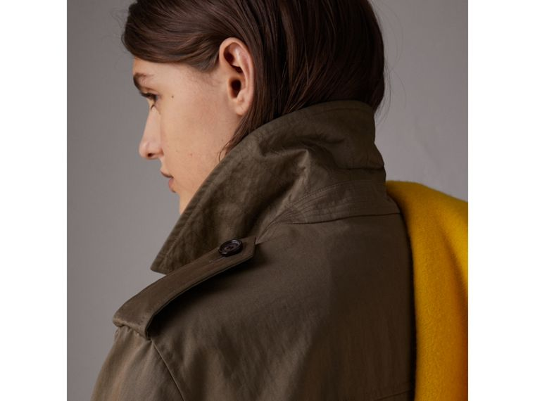 Showerproof Field Jacket in Dark Olive - Women | Burberry - cell image 4