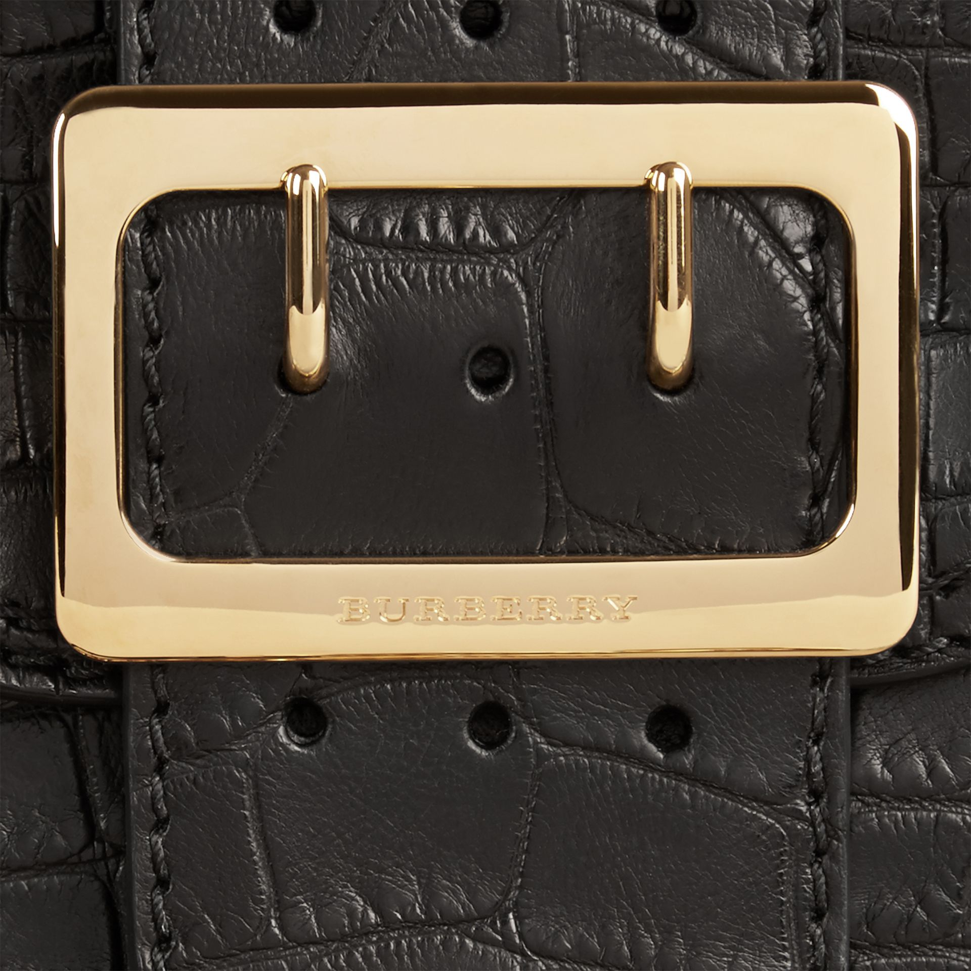 Black The Small Square Buckle Bag in Alligator Limited Edition - gallery image 2