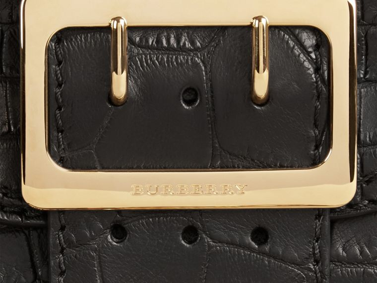Black The Small Square Buckle Bag in Alligator Limited Edition - cell image 1