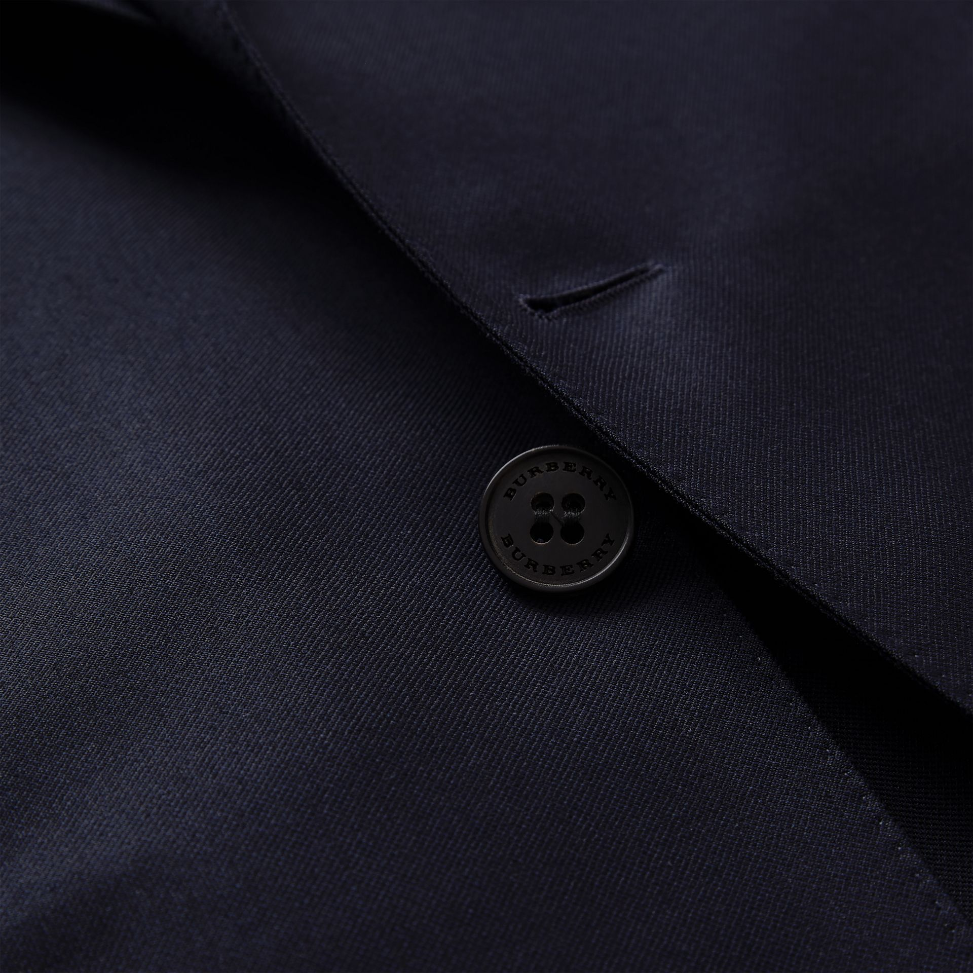 Slim Fit Wool Mohair Silk Suit in Navy - Men | Burberry - gallery image 9