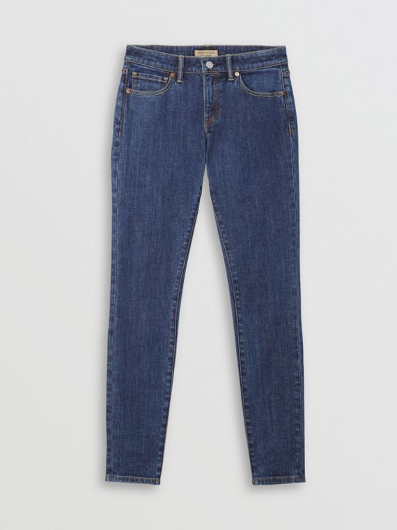 Skinny Fit Japanese Denim Jeans in Blue