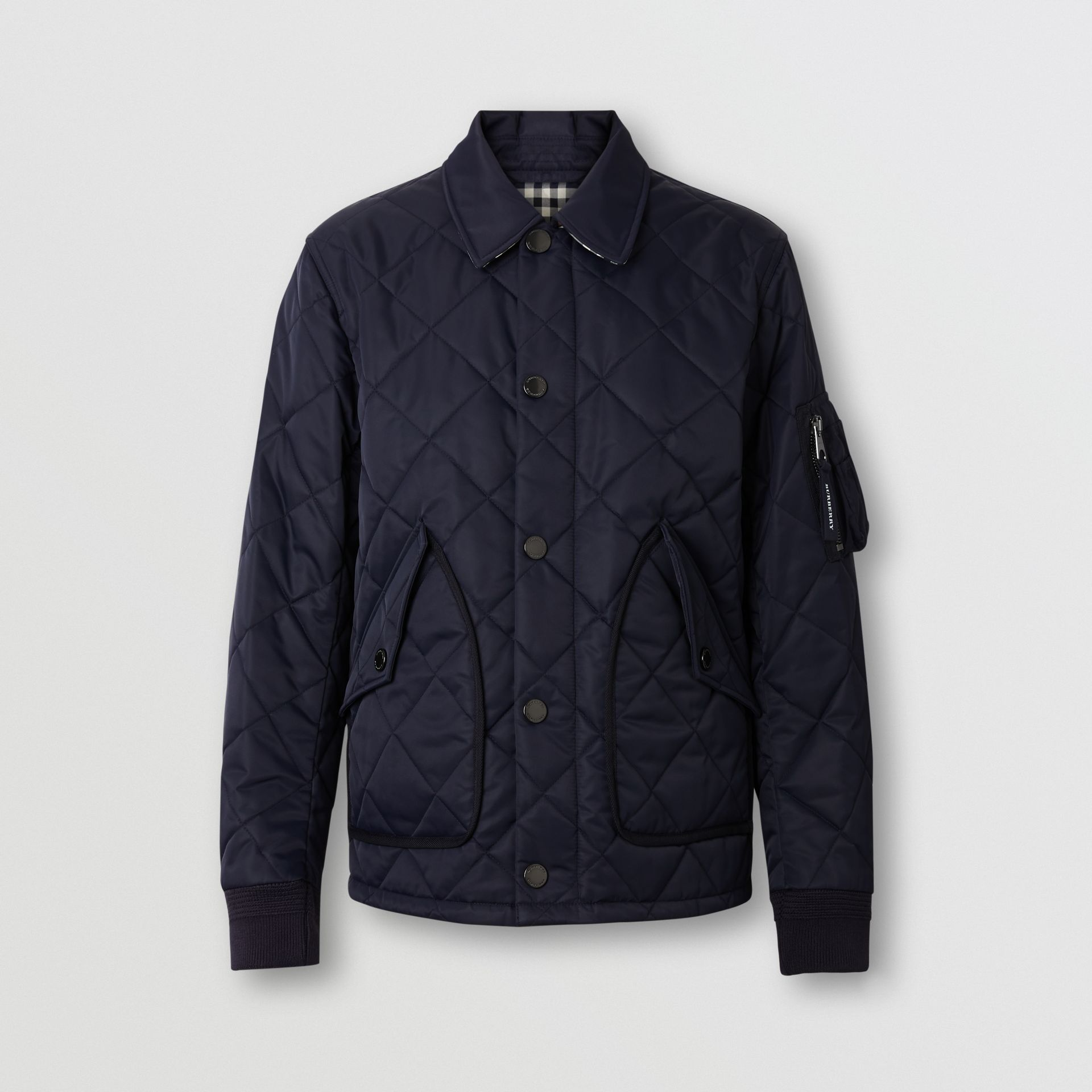 Diamond Quilted Jacket in Navy - Men | Burberry United Kingdom - gallery image 3