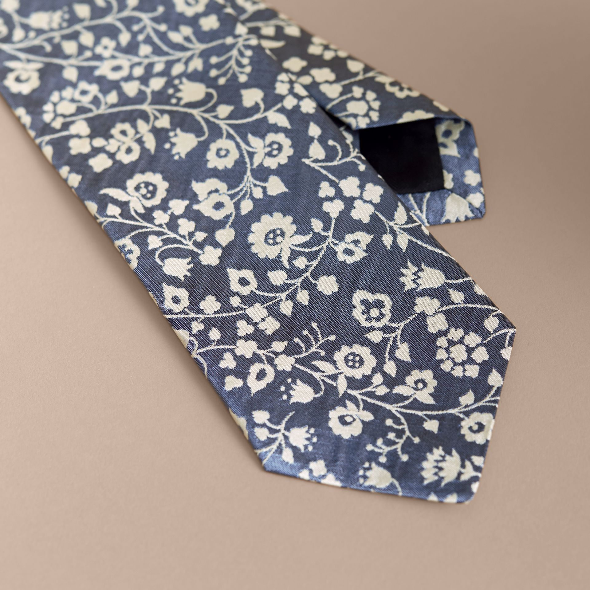 Modern Cut Floral Silk Jacquard Tie in Pale Blue - Men | Burberry - gallery image 2