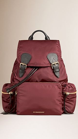 Zaino The Rucksack in nylon tecnico e pelle