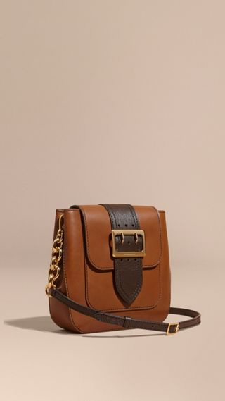 The Medium Buckle Bag – Square in Leather