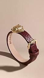 Ladybird Motif Leather Cuff