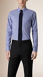 Modern Fit Gingham Cotton Poplin Shirt