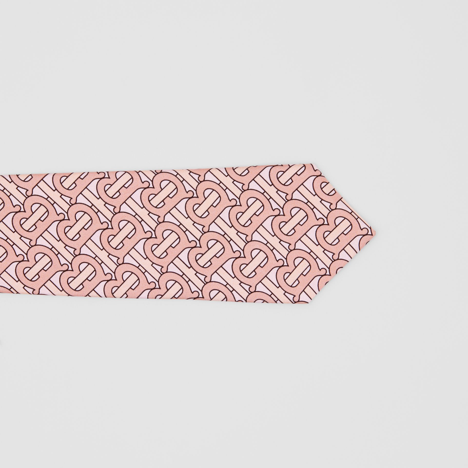 Classic Cut Monogram Print Silk Tie in Pale Copper - Men | Burberry - gallery image 1