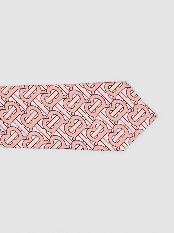 Classic Cut Monogram Print Silk Tie in Pale Copper - Men | Burberry - cell image 1