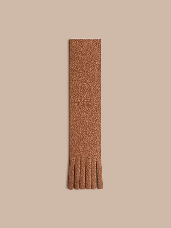 Grainy Leather Bookmark in Tan | Burberry - cell image 3