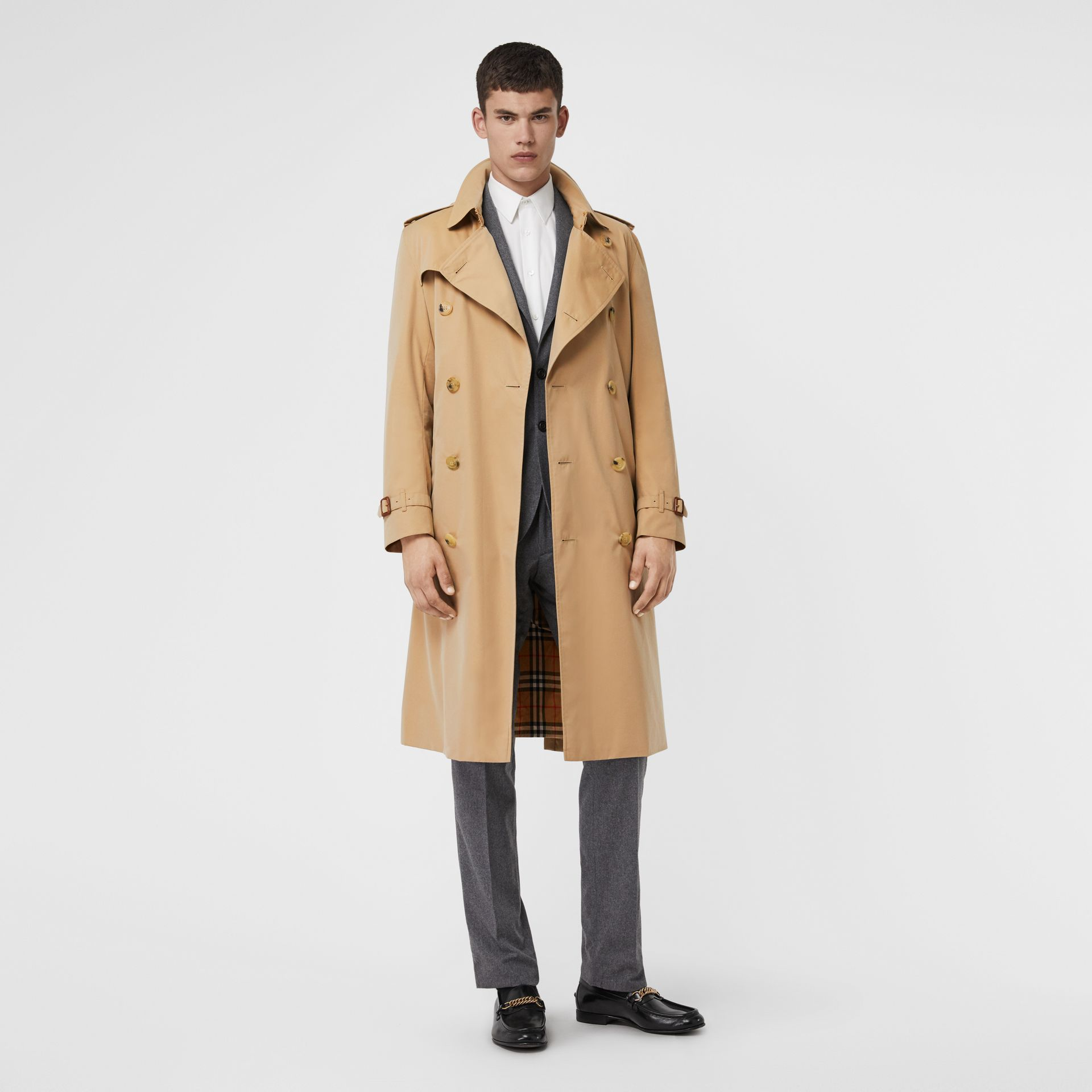 The Kensington – Trench Heritage long (Miel) - Homme | Burberry Canada - photo de la galerie 6