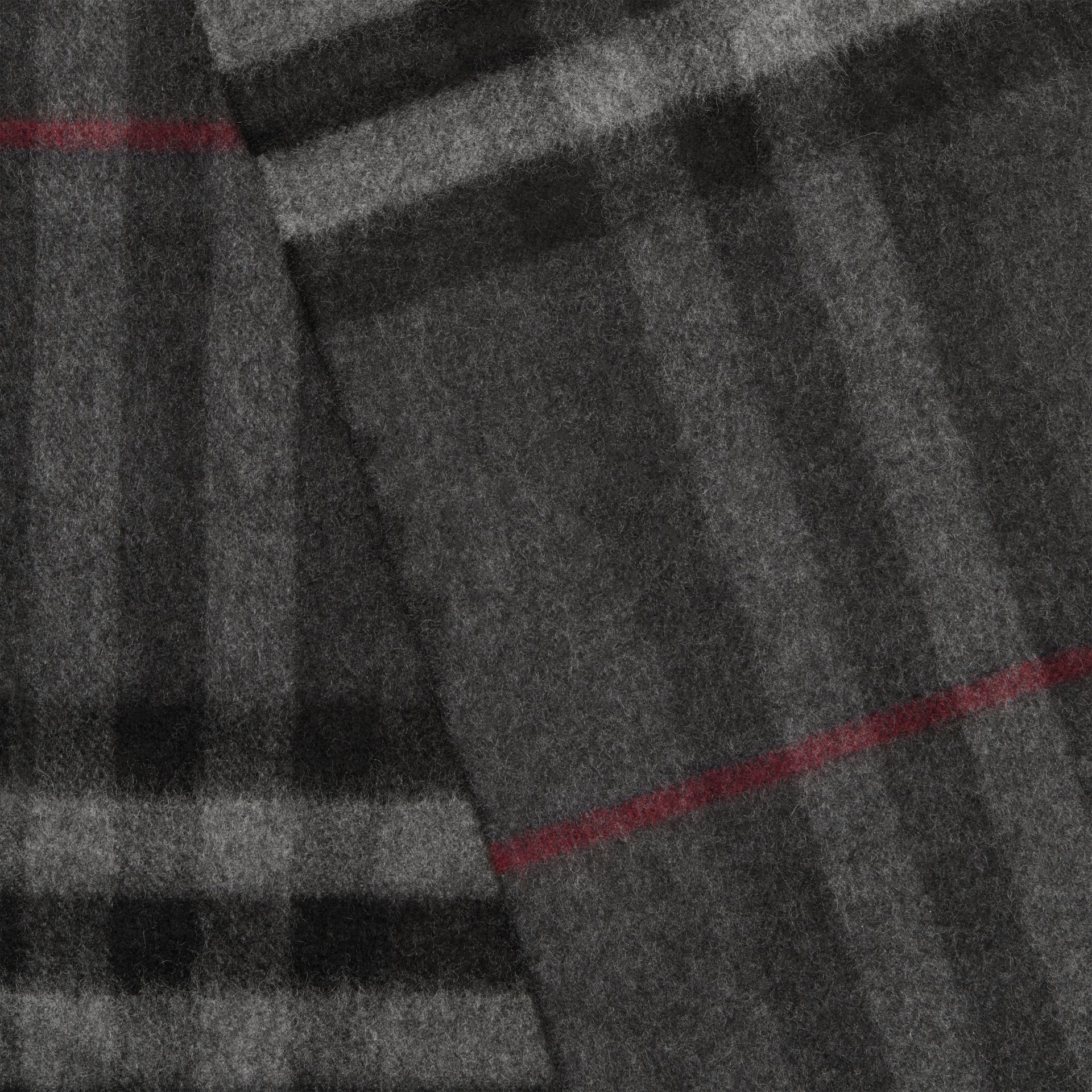 The Classic Check Cashmere Scarf in Charcoal | Burberry - gallery image 1