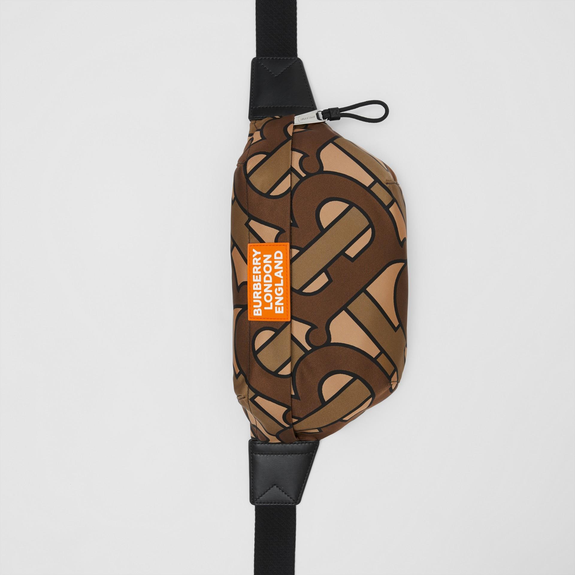 Monogram Print Nylon Sonny Bum Bag in Bridle Brown - Men | Burberry - gallery image 4