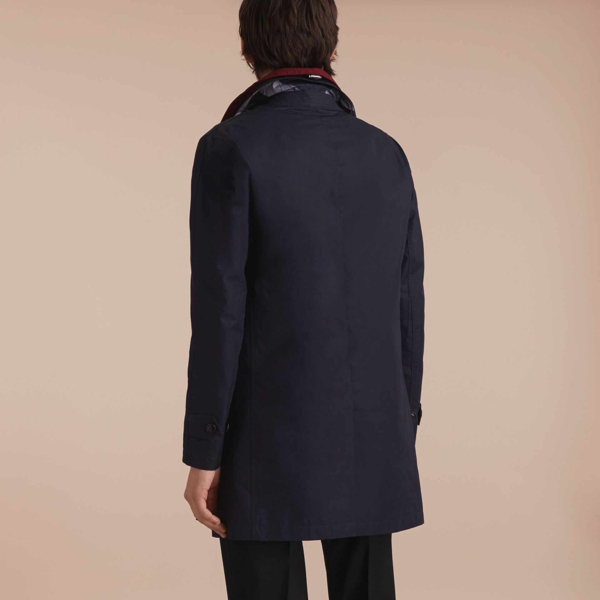 Lightweight Cotton Car Coat with Detachable Gilet Navy - gallery image 7