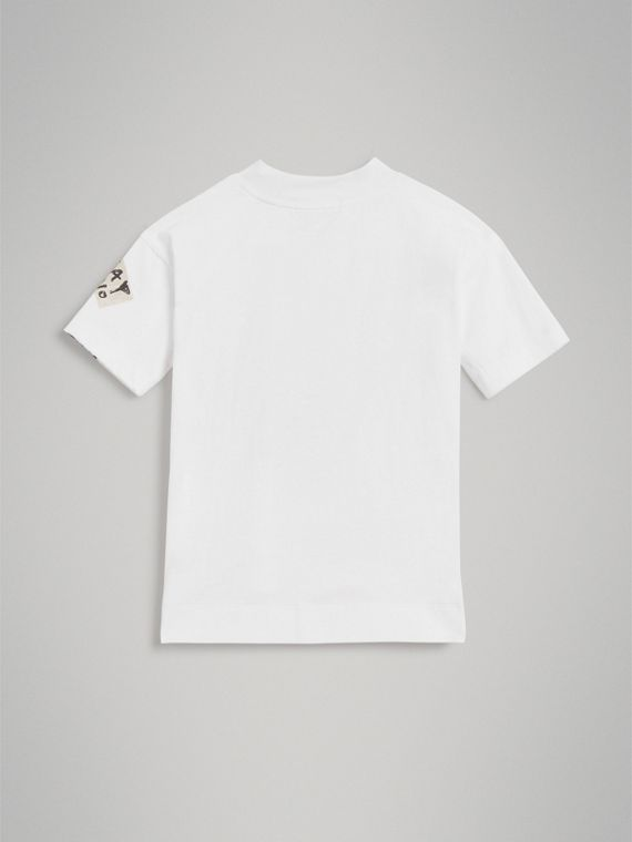 London Street Art Print Cotton T-shirt in White - Girl | Burberry United Kingdom - cell image 3