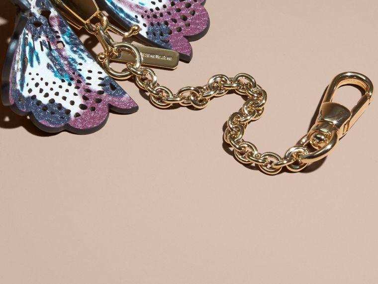 Rose mauve/rose antique Bijou porte-clés Papillon en cuir à imprimé tie and dye Rose Mauve/rose Antique - cell image 1
