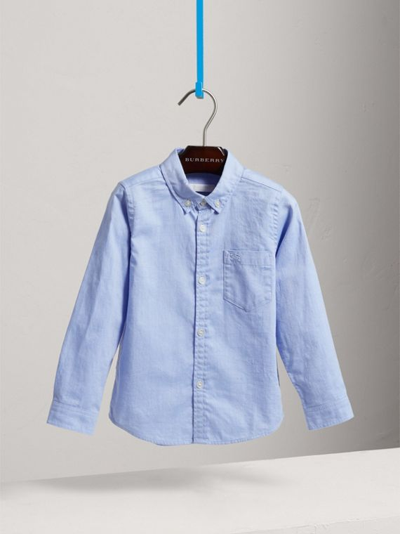 Classic Oxford Shirt in Cornflower Blue - Boy | Burberry Canada - cell image 2
