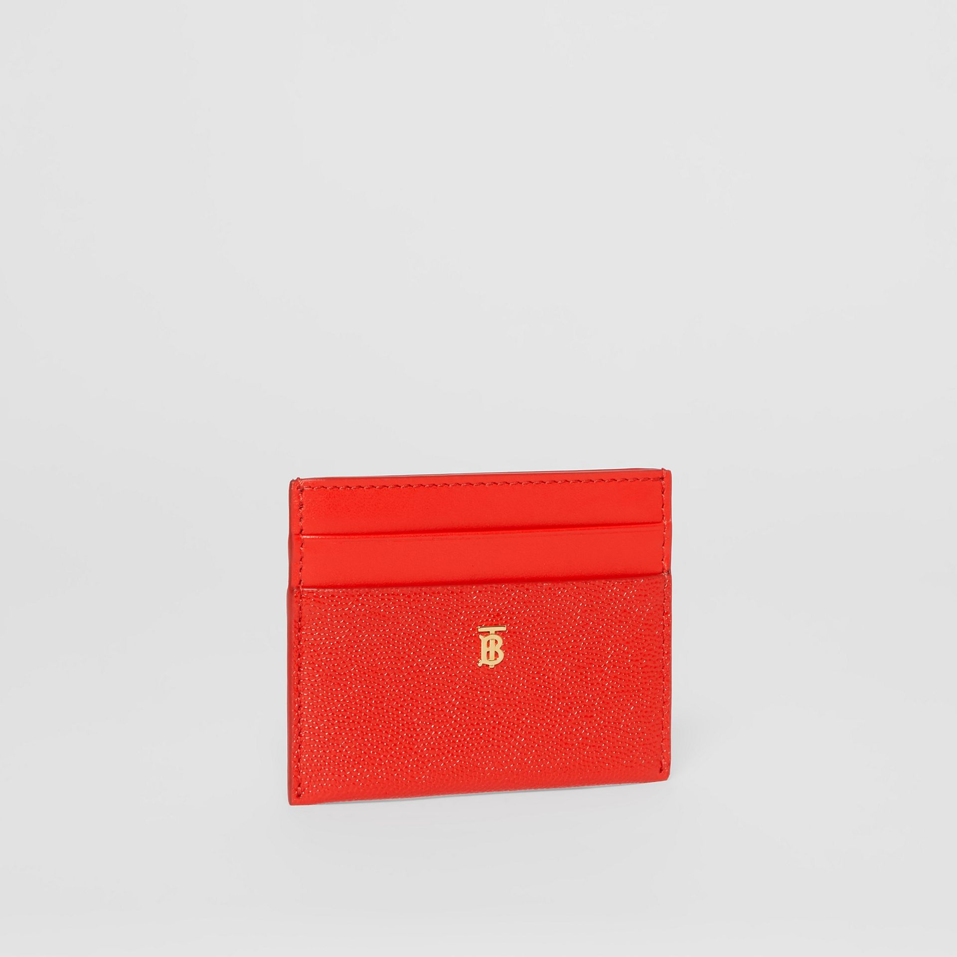 Monogram Motif Leather Card Case in Bright Red - Women | Burberry - gallery image 3
