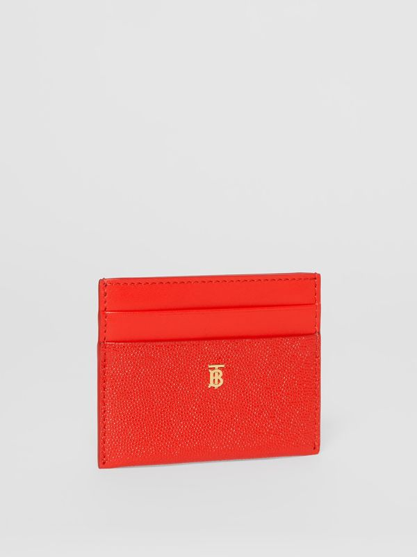Monogram Motif Leather Card Case in Bright Red - Women | Burberry Australia - cell image 3
