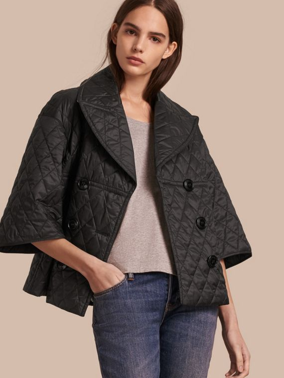 Diamond Quilted A-line Jacket