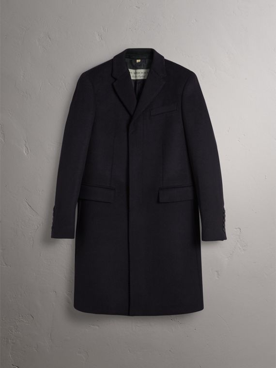 Wool Cashmere Tailored Coat in Navy - Men | Burberry United States - cell image 3
