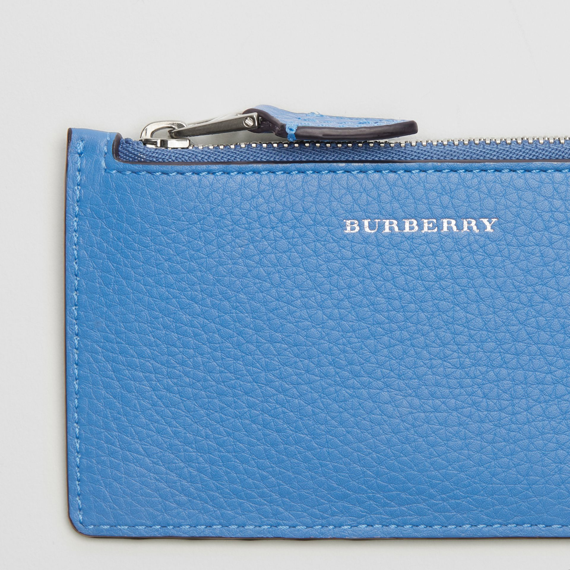 Two-tone Leather Card Case in Hydrangea Blue - Women | Burberry - gallery image 1